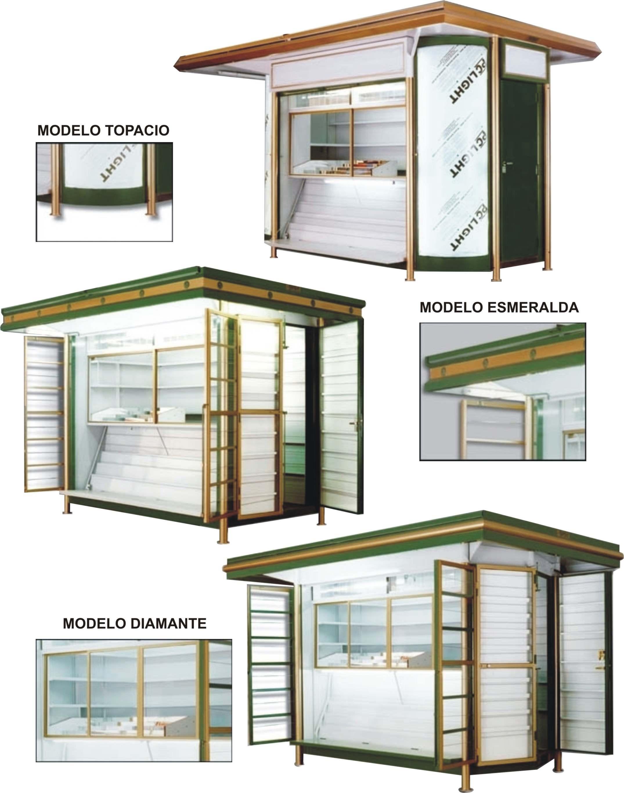 Kioscos manolo for Diseno de kioscos en madera